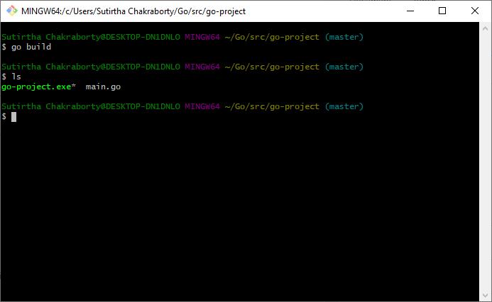 Go Build Executable