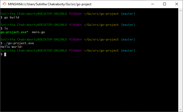 Running The Executable
